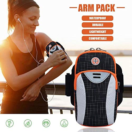3.741.387.48in Arm BagSports Fitness Arm With Headphone Running Outdoor Mobile Motion Phone Armband -Black