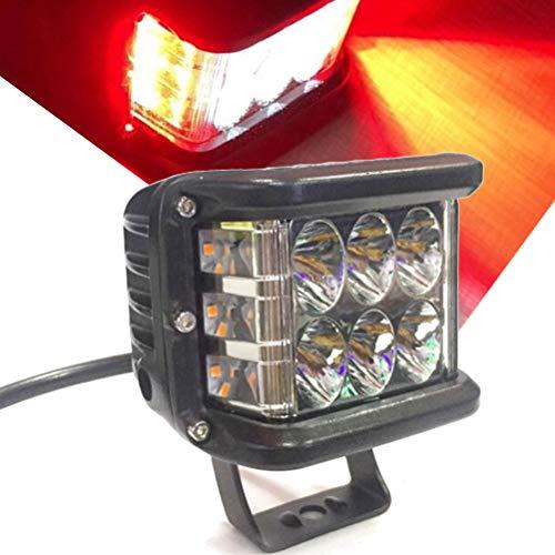 Luz LED de lado Shooter, 48W inundación Spot Combo viga lateral Dual 12 LED cubos trabajo luces niebla luces para carro Jeep...