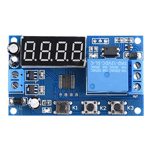 Timer Relay Adjustable Automation Control Switch Module LED Display((12V))