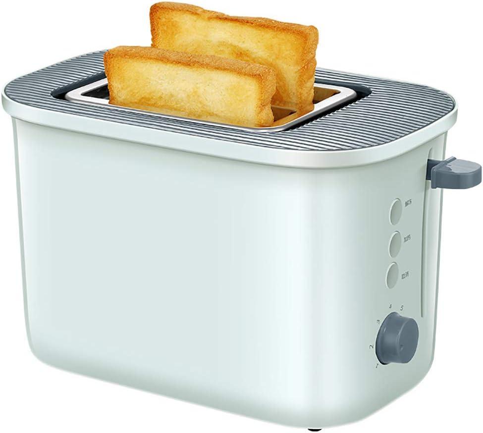 LQH Totalmente automático 2 Slice Toaster, de 7 Posiciones for Hornear Ajustes de Color y de 36 mm de Acero Inoxidable Amplia Pan Comedero, con Bandeja extraíble for Las Migas, Verde