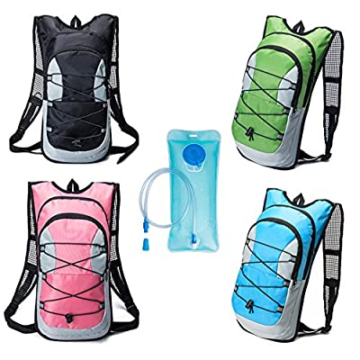 Hydration Backpack, Bukm UltraLight 2L Hydration Pack with Water Bladder Camping Hunting Running Hiking Cycling Walking Climbing Skiing Bag Daypack for Men Women Kids