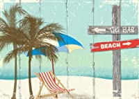 Sixtrees Tiki Bar or Beach Box Horizontal Sign