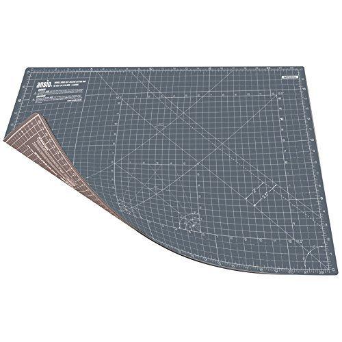 ANSIO Cutting Mat, Self Healing Cutting Mat, Hobby Cutting Mat, Sewing Cutting Mat, Double Sided 5 Layers Eco Friendly Cutting Mat Imperial/Metric 22.5 Inch x 17 Inch/(59 cm x 44 cm) A2 - Grey/Brown by ANSIO