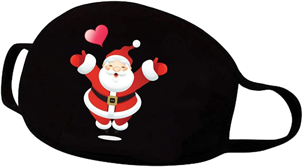 TEEL Weihnachtsgesichtsbedeckung Frauen M/änner Waschbare wiederverwendbare Gesichtsabdeckungen Bequeme atmungsaktive Baumwollbandanas mit Ohrb/ügel