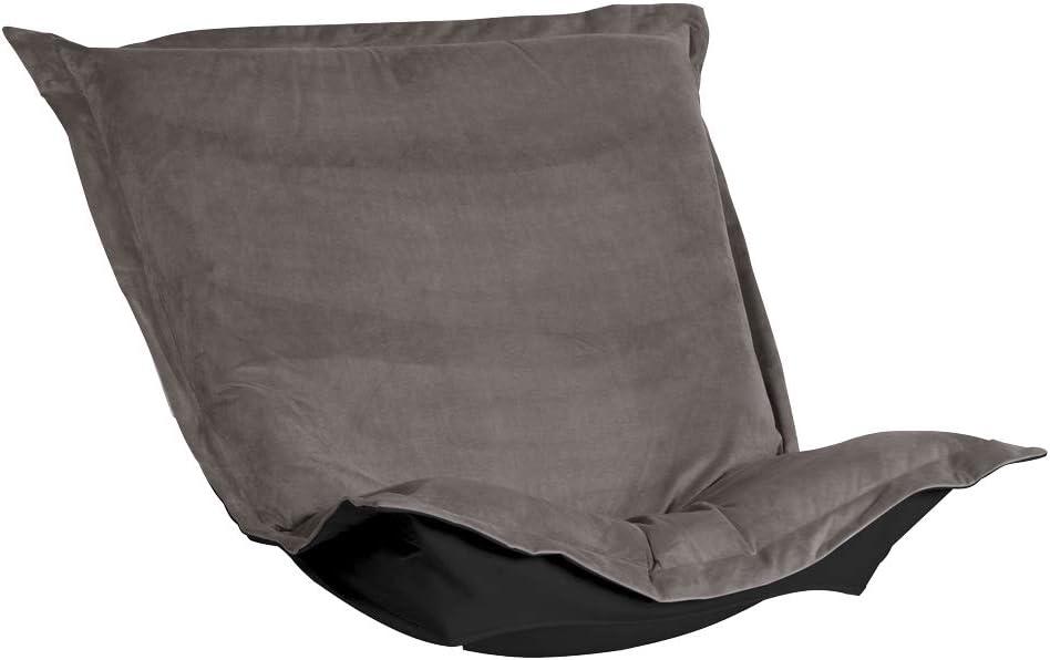Howard Elliott Puff Chair Cover, Bella Pewter