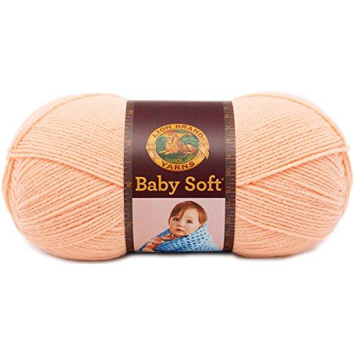 Pastel Acrylic Rug - Lion Brand Yarn 920-133 Babysoft Yarn, Creamsicle