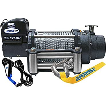 Superwinch 1517200 Tiger Shark 12 VDC winch, 17,500 lb/7,938 kg capacity with roller fairlead