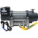Superwinch 1517200 Tiger Shark 17.5, 12 VDC winch, 17,500 lb/7,938 kg capacity with roller fairlead