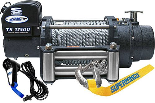 Superwinch 1517200 Tiger Shark 17.5, 12 VDC winch, 17,500 lb/7,938 kg capacity with roller fairlead by Superwinch