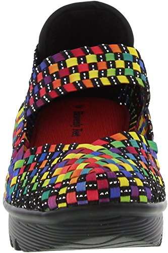 Heavenly Feet Womens Rainbow Wedge Heel Black / Gold / Multi pusrs8PeL7