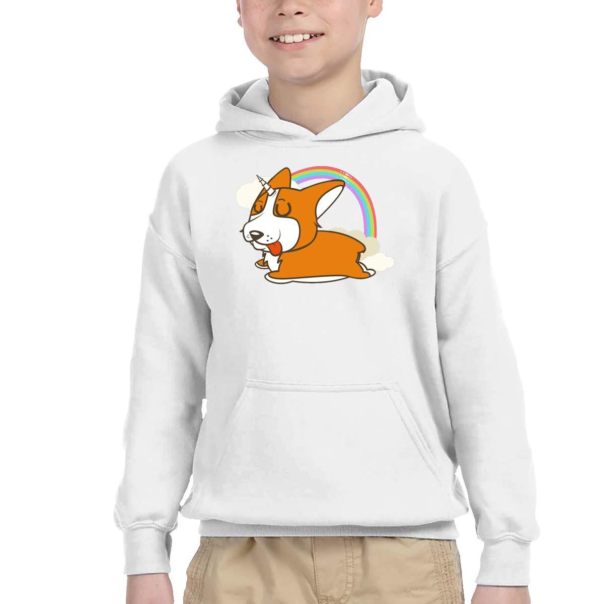 Sakanpo Corgi Dog Unicorn Pullover Hoodie Sweatshirt Teens Hooded for Boys Girls