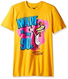 T-Line Men's Cow & Chicken Made Chicken Graphic T-Shirt, Gold, Large