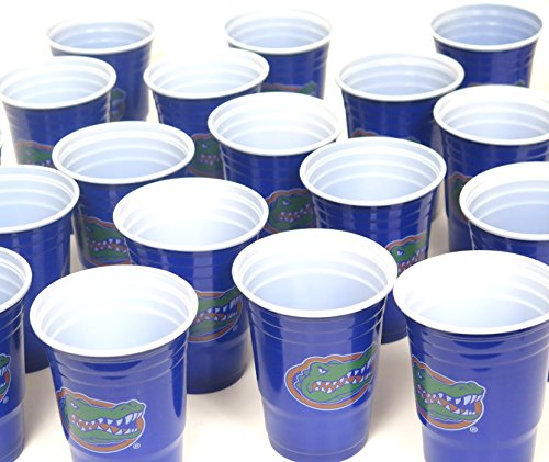 Florida Gators barbecue cookout 4th of July Jumbo party cups set of 36. Large plastic colorful 18 oz, game day plastic - Bar Florida Gators