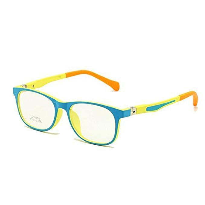 3dabd814fa EnzoDate Niños Gafas TR90 Tamaño 45 Seguro Flexible con Bisagra de  Primavera Flexible Marco Óptico Niños