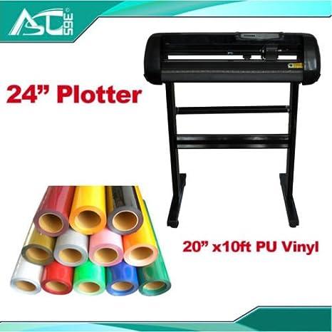 24 corte Plotter con craftedge Software y M camiseta ...