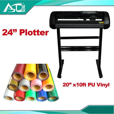 24 corte Plotter con craftedge Software y M camiseta transferencia de calor de vinilo: Amazon.es: Hogar