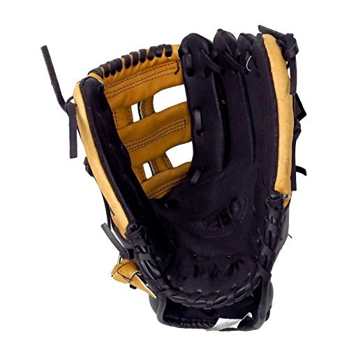 Wilson Genuine Leather A360 Series Youth Baseball 11-1/2 Inch Right Hand Throw Utility Glove Mitt, Model: WTA0360115 Color Brown and Black by Unknown
