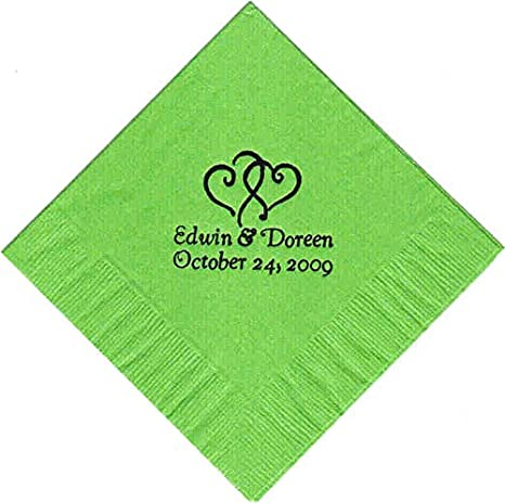 amazon com 100 printed personalized beverage cocktail party napkins