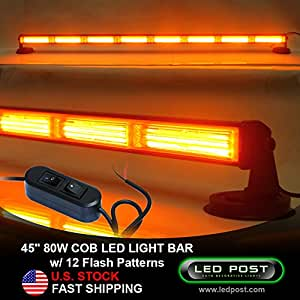 "Amazon.com: 45"" Amber 80W Watts COB LED Emergency Alert"