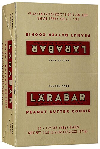 LARABAR Gluten Free Bar - Peanut Butter Cookie - 1.6 oz - 16 ct