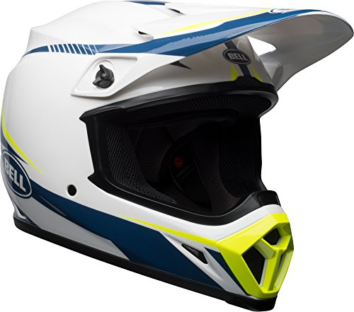 Bell MX-9 MIPS Off-Road Motorcycle Helmet (Gloss White/Blue/Yellow Torch, Large) ()