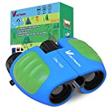 8×21 Compact Binoculars for Kids,Best Binoculars with High Resolution Real Optics, Adjustable Focus Dial and Break-Away Child-Safe Lanyard for Bird Watching,Camping and Hunting (Blue/Green) For Sale