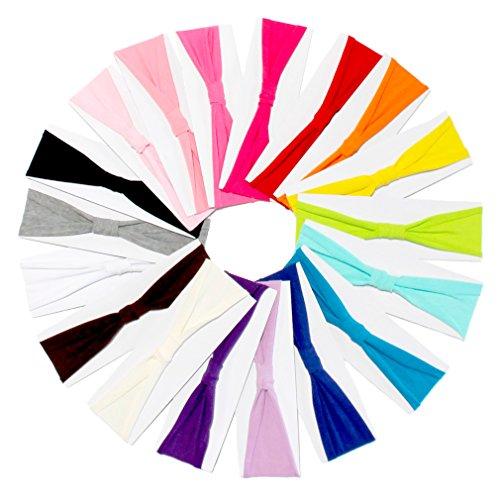 Jersey Cotton Knit Headbands - Child Size - Lot of 20