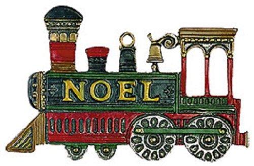 Christmas Noel Train German Pewter Christmas Ornament Dec...