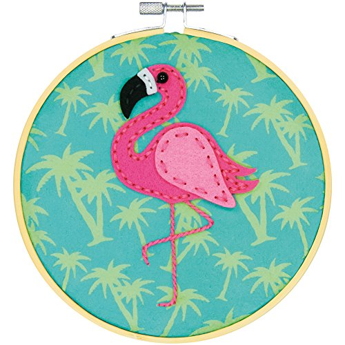 Dimensions Needlecrafts Flamingo, Learn a Craft Felt Applique Kit None ()