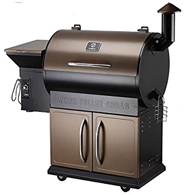 Pellet Grill Pro 7 in 1 Electric Wood Pellet Smoker Grill - 700 sq.in Cooking Area for Outdoor BBQ Smoker Grill Roast Bake Braise and BBQ with Free Waterproof Grill Cover