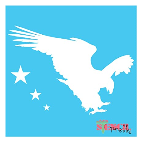 Amazon Com American Eagle Stencil Patriotic Flag Star Usa Freedom