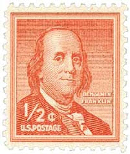 Amazon Com Single 1 2 Cent Us Postage Stamp Benjamin Franklin 1955 S 1030 Everything Else