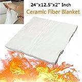 New 24x12.5x2 Inch Aluminum Silicate High Temperature Insulation Ceramic Fiber Blanket