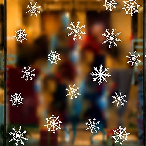 UUUUQQQ Etiqueta De La Pared De Navidad Merry Christmas Deer Santa Claus Snowflake Gift Wall Decals Home Decor Living Room...