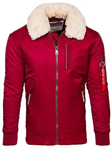 Alto Stile Chiusura 4d4 Stagione elegante Rosso Bolf Urbano Trapuntata Collo Uomo Da Doppia 1787 Mezza – Giacca 6nXx0