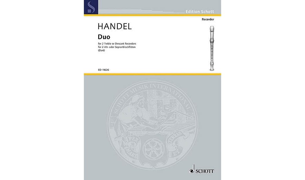 Schott Duet F Major (with Alternatives in C Major) Schott Series by Georg Friedrich Handel pdf epub