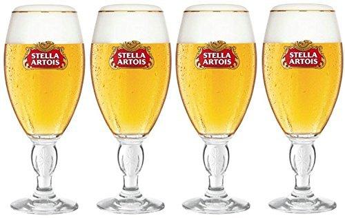 4 x Stella Home Serve Chalice Glasses 33 Centilitre (Set of 4 Glasses) Stella Artois