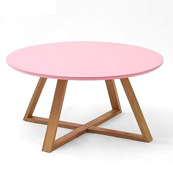 Amazon.de: Tische Couchtisch aus Massivholz runde kreative Teetisch ...