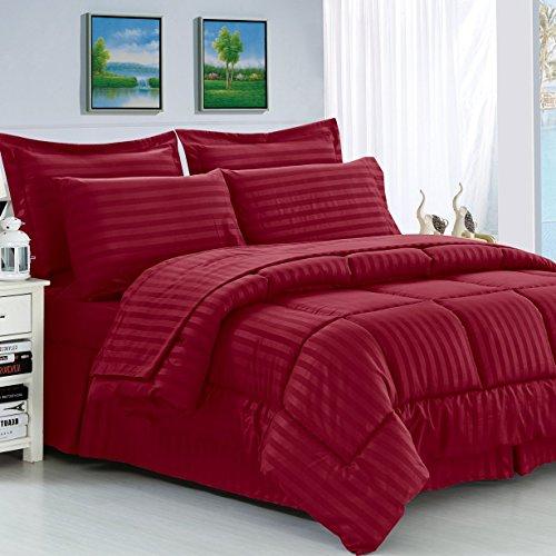 Hypoallergenic Fiber 8 Piece Reversible Haliburton Comforter