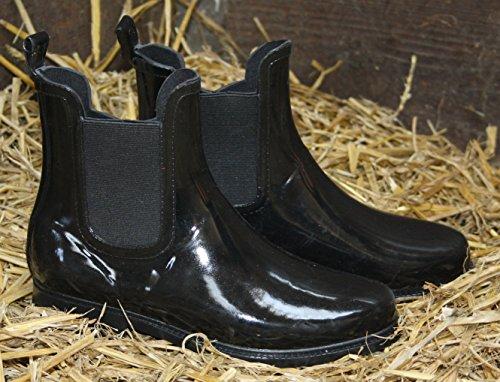 Stiefelette Boot Regenstiefelette 41 Jelly Gummistiefel EUROPE Regenstiefel Wellingtons Halbstiefel 37 Schwarz Gummistiefelette ZAPATO Boots Chelsea Damen Stiefel qzwwXPa