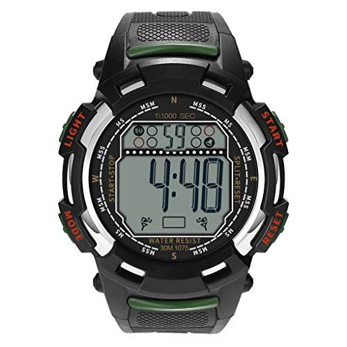 Wrist Watches for Men, LuluZanm Luxury Men's Analog Digital Military Sport LED Waterproof Wrist Watch ()