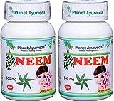 Neem - 2 bottles (each 60 capsules, 500mg) - Planet Ayurveda in USA