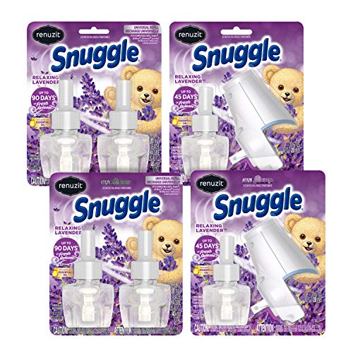 Price comparison product image Renuzit Snuggle Scented Oil Plugin Air Freshener,  Relaxing Lavender,  6Count,  6 Refills + 2 Warmers