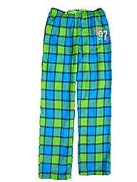 Total Girl Green & Blue Plaid Girls Flannel Sleep Pants Pajama Bottoms X-Large