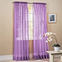 Solid Purple Curtains For Girls Bedroom
