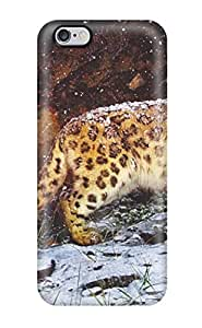 Premium Iphone 6 Plus Case - Protective Skin - High Quality For Snow Leopard Flurries