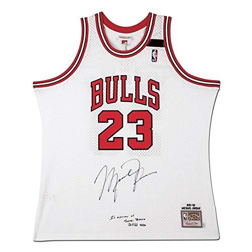 Michael Jordan Signed 1991-92 Mitchell & Ness Bulls Jersey Sheri Berto #/123 UDA