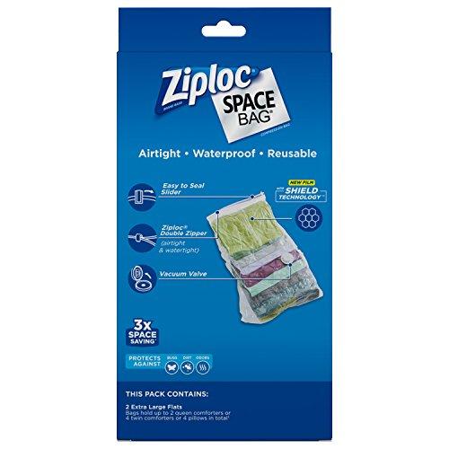031810700118 - Ziploc Space Bag,  XL Flat Bag, 2 Count carousel main 4