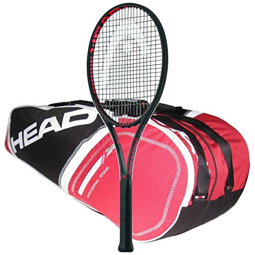 Head 2018 Graphene Touch Prestige MP - Quality String with 6 Racquet Tennis Bag (4-1/4, Red Bag)