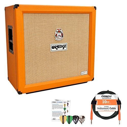 Orange Crush Pro 412 Speaker Cabinet with Cable and Pick Sampler
